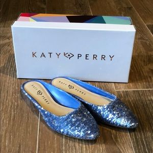 Katy Perry Cute Sequin Mules!